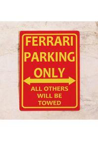 Парковочная табличка Ferrari