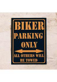 Парковочная табличка Biker