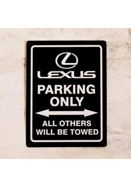 Парковочная табличка Lexus