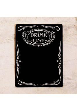 Грифельная доска To drink list