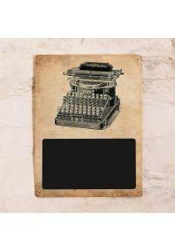 Винтажная  доска для записей  Печатная машинка