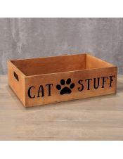 Деревянный ящик Cat Stuff