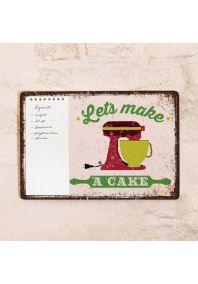 Табличка с блокнотом Let's make a cake