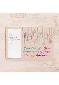 Табличка с блокнотом Spoon of love