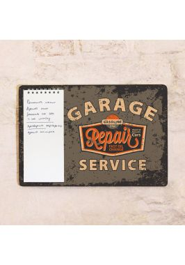 Табличка с блокнотом Garage