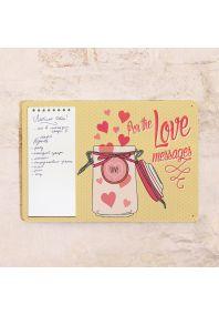 Табличка с блокнотом Love messages