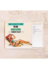 Табличка с блокнотом Be awesome