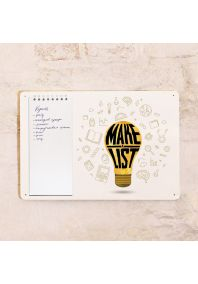 Табличка с блокнотом Make a list