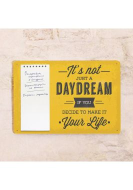Табличка с блокнотом Daydream
