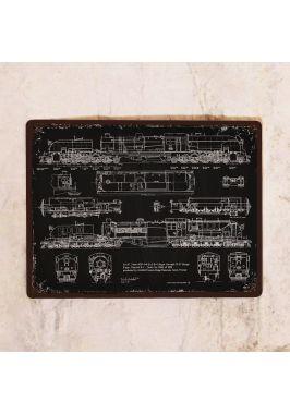 Жестяная табличка с патентом паровоза