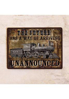 Жестяная табличка Locomotive