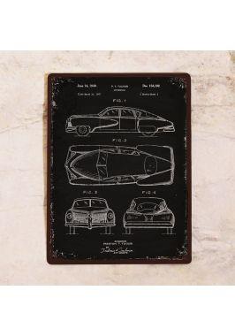 Жестяная табличка Патент автомобиля