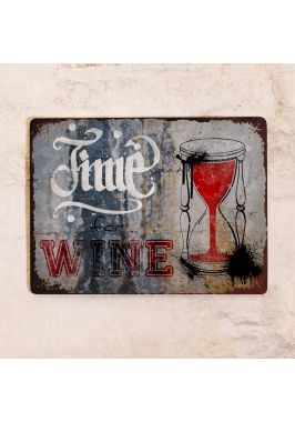 Жестяная табличка Time for Wine