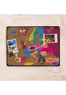 Винтажная грифельная карта Европы  30х40 см