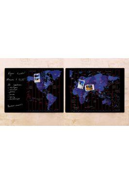 Набор карт Часовые пояса  60х80 см