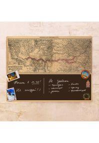 Винтажная декоративная карта Railroad 60х80 см