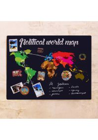 Political world map 60х80 см