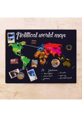 Карта для детей на стену