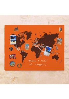 Магнитная карта мира