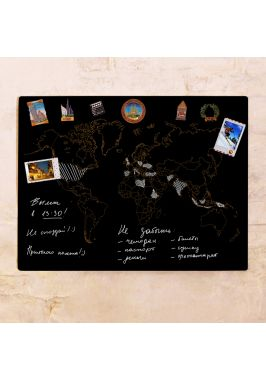 Грифельная контурная карта  60х80 см