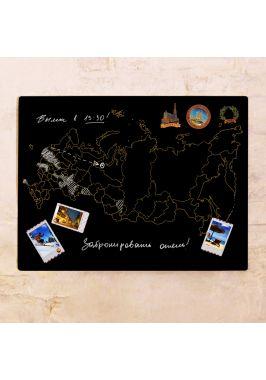 Грифельная контурная карта России  60х80 см