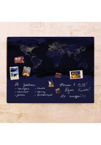 Ночная карта мира  60х80 см
