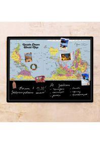 Перевернутая карта мира  60х80 см