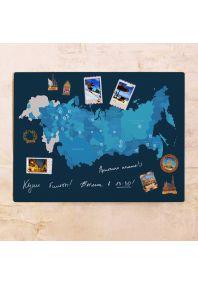 Сине-голубая карта СНГ  60х80 см