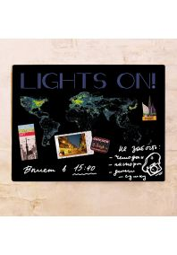 Карта Lights on! 30х40 см