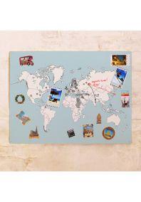Классическая контурная карта мира 60х80 см