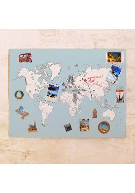Магнитная карта мира для детей