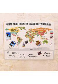 Яркая карта мировой популярности  60х80 см
