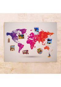 Цветная декоративная карта  60х80 см
