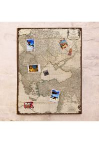 Древняя карта европейской части  60х80 см