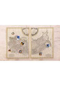 Двойная карта Российской империи с меридианами  60х80 см