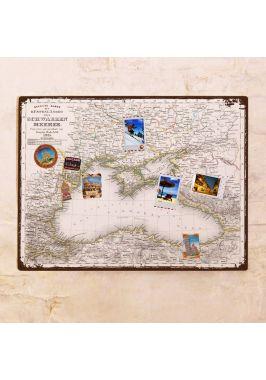 Старинная карта Черного моря  60х80 см