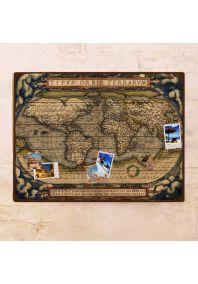 Декоративная древняя карта мира  60х80 см