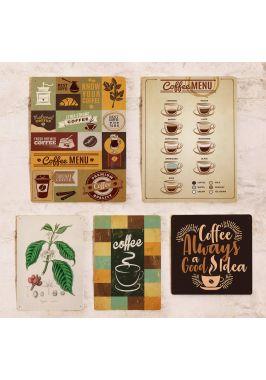 Набор табличек для декора стен кофейни