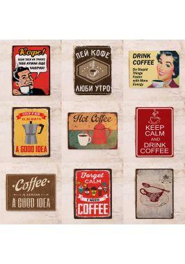 Набор табличек для декора кофейни