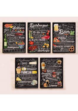 Набор табличек для декора стен ресторана, кафе или кухни