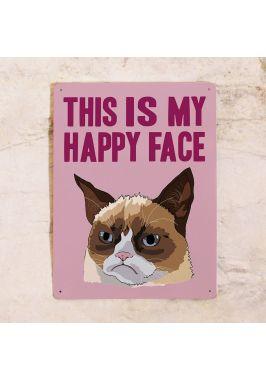 Жестяная табличка Happy Face