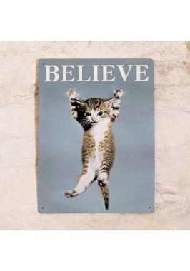 Жестяная табличка Believe