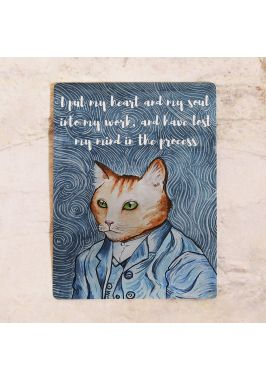 Жестяная табличка Van Gogh cat
