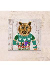 Медведь в свитере 63х63см