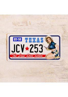 Номер на американский автомобиль Техас