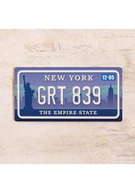 Номер на американский автомобиль Нью-Йорк