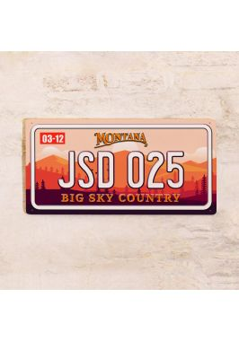 Сувенирный номер на авто Монтана