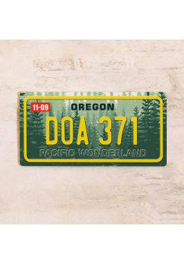 Номер на американский автомобиль Орегон