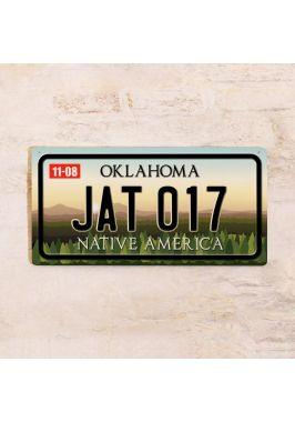 Номер на американский автомобиль Оклахома