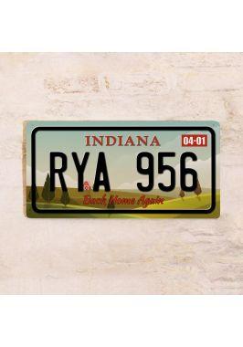 Сувенирный номер на авто Индиана